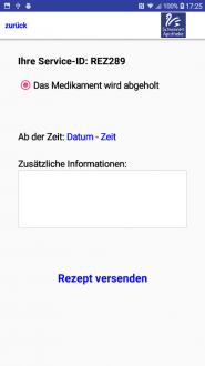 Rezept-App-absenden